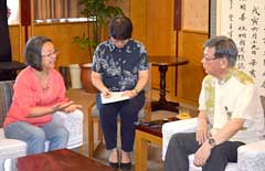 UN special rapporteur meets Okinawa Governor: Okinawa a case of discrimination