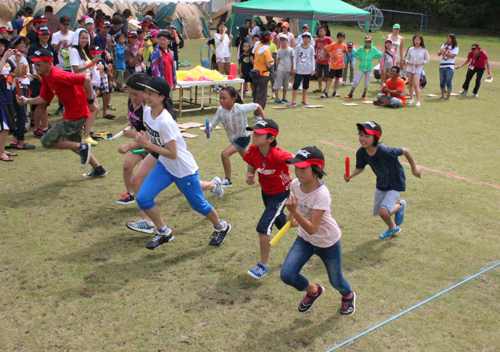 Children from different countries interact in Okinawa