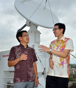 Two typhoon experts at University of the Ryukyus collaborate