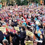4,500 protesters gather in Tokyo to block construction of new US base at Henoko