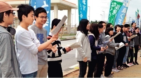 High school students from across Japan visit Henoko to oppose new base construction