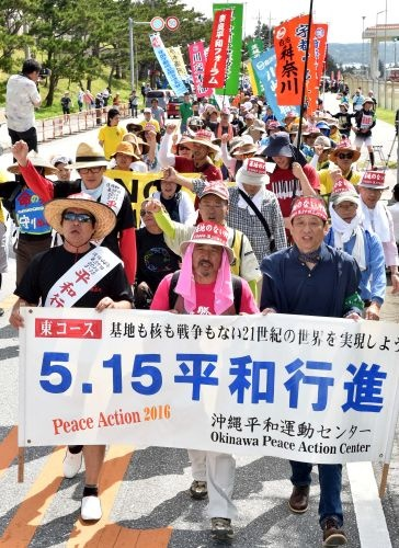March for peace on 5.15 spurs on movement in Henoko