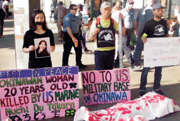 Citizen groups express sorrow and anger in Washington, D.C. after Okinawan woman was allegedly murdered by former US marine