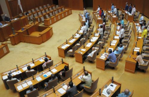 Ruling parties in Okinawa assembly pass position document asking for halt to US military's helipad construction