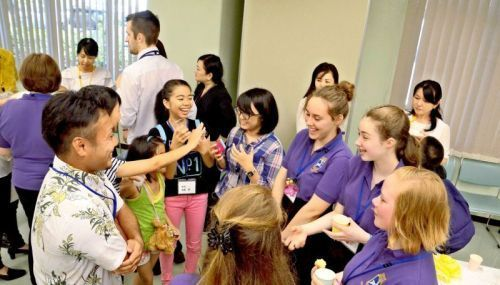 Dene Magna School students from England visit Okinawa