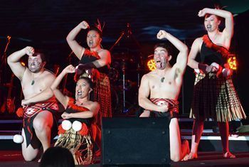 On July 30 at the Chengdu Eastern Memory in Pengzhou City, performers from New Zealand shared powerful songs and dances.