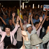 1,500 people gather to protest against Henoko lawsuit