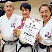 Physically challenged karate champion and the two masters behind her success