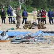 US military sets up restricted area on beach to keep people away from Osprey wreckage