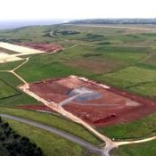 Airstrip expansion and helipad construction at Ie Jima Auxiliary Airfield proceeding steadily