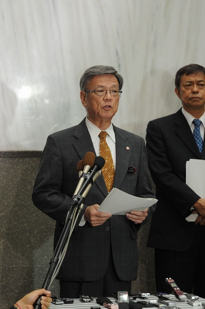 Governor Onaga says Okinawans are disregarded as Osprey aerial refueling training resumes