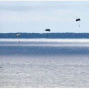 US military ignores local residents' objections to parachute drop training in Uruma
