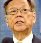 Okinawa governor warns forcible construction of a new base will lead to future trouble for Japan-US security relations