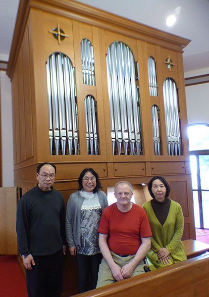Pipe organ at church in Chatan revives its timbre