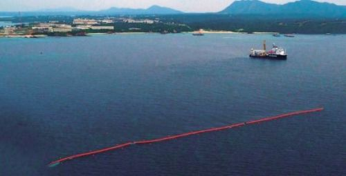 ODB begins work to set up silt protectors on Oura Bay