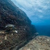 Walking underwater in Okinawa with google underwater street view