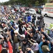 More than 3,500 protest new base in Henoko, governor announces intention to revoke land reclamation approval