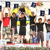 Big smiles after tough challenge at Miyakojima triathlon award ceremony