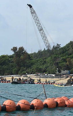 Government of Japan forces through laying stones for Henoko embankment work