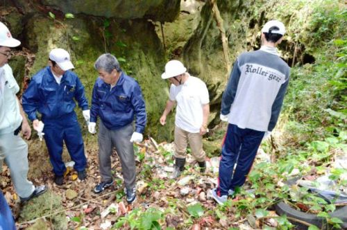 Itoman City and Okinawa Prefectural Government taking measures to prevent illegal waste dumping in Mabuni
