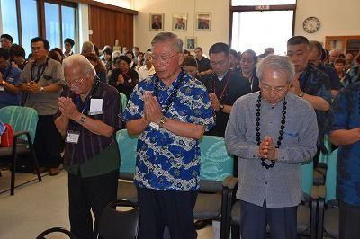 First memorial service held for 12 Okinawan POWs who died in Hawaii