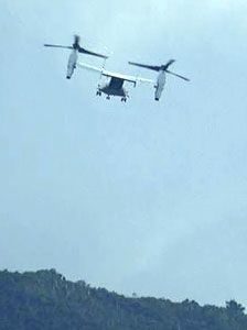 US marines carry out MV-22 Osprey take-off and landing training for first time on new helipads in NTA