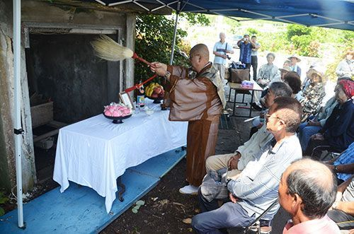 Symbol of burials in Yonashiroteruma, Uruma dismantled as cremation takes its place