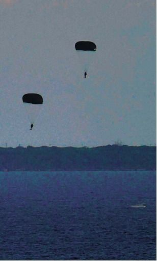 U.S. military parachute training in Tsuken Island becoming a regular occurrence