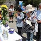 Service held for war dead of former Ourasaki Camp, where 400 bones remain unrecovered