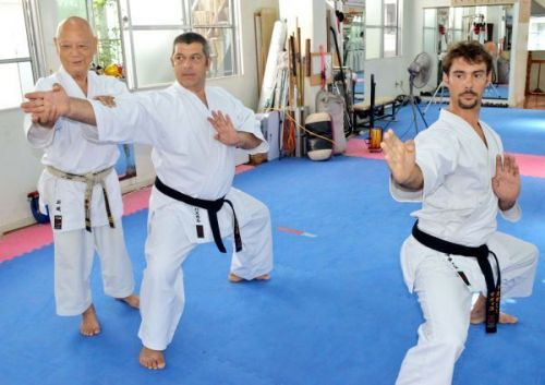 French practitioners hone their skills at karate's birthplace in Okinawa