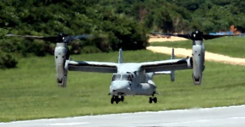Futenma-based MV-22 Osprey crashes off the coast of Australia seven months after an accident in Okinawa, people concerned and angered