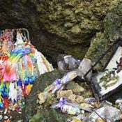 Four teens arrested for damaging Chibichiri Gama suicide cave in Yomitan