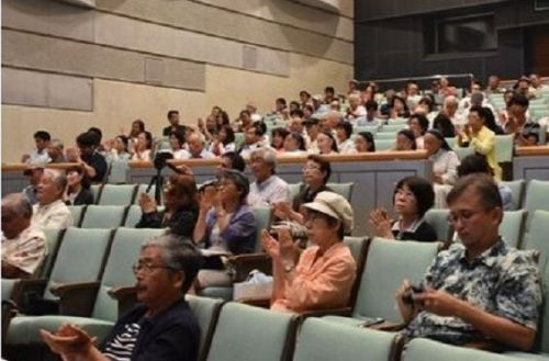 Panelists stress importance of appealing to agencies outside the country on new base construction in Henoko