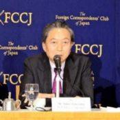 Former Prime Minister Hatoyama criticizes forced Henoko base construction
