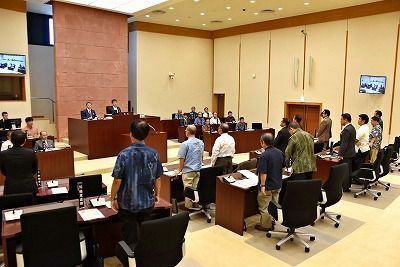 Kadena Town Council adopts protest resolution on the temporary deployment of the F-35As
