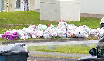 Waste site trouble caused suspension of garbage collection from military