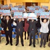 Miyakojima residents protest against GSDF deployment to Miyako Island