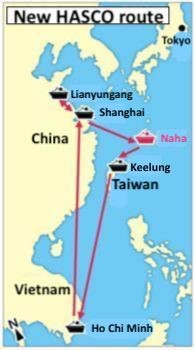 Okinawa export increase anticipated through new sea route connecting Naha and Ho Chi Minh