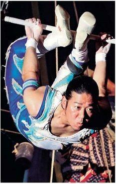 Shimoji of Kinoshita Circus thrills the audience