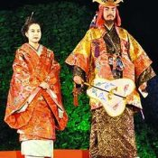 Newly selected sixth-generation Hokuzan king and queen promote Nakijin