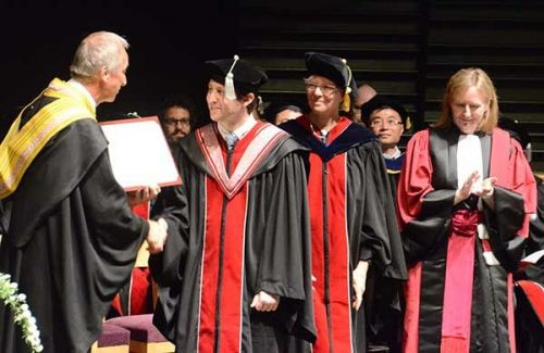 OIST awards its first doctorates to 14 scholars