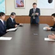 Okinawa Prefectural Board of Education requests the suspension of flight above schools