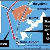 Civilian aircraft not permitted in Iejima training airspace despite 1985 U.S.-Japan agreement