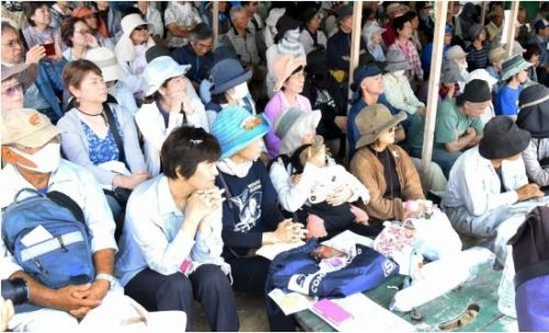 Prefectural rally of 1500 people gathers in Henoko to observe Okinawa's day of humiliation and protest persistent issues