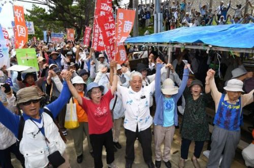 Citizens' rally draws 2000 participants who protest against Henoko base construction