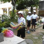 Miyamori Elementary School hosts a memorial service for 1959 Okinawa F-100 crash