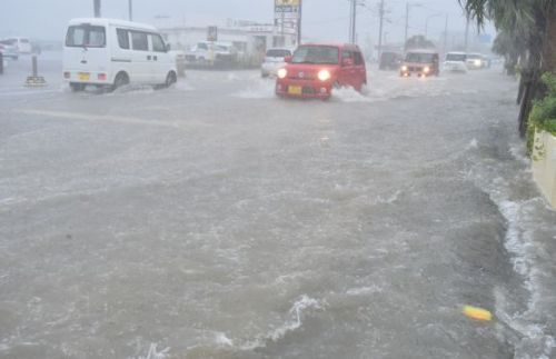 Rainfall in Okinawa reaches record high in July, 3.3 times more precipitation than usual