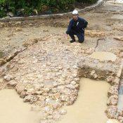 Madama-michi Road from 16th century excavated around Shurei gate