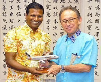 Jetstar Asia CEO expresses gratitude for Naha-Singapore flights doing well