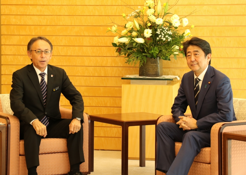 Talks between Governor Tamaki and Prime Minister Abe end without reaching an agreement